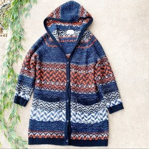 Miss Me Mohair Blend Hooded Knit Cardigan